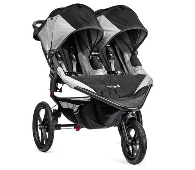 Baby Jogger Swivel Summit X3 Double Black-Gray
