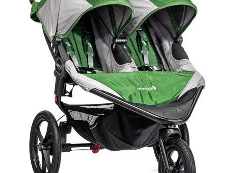 Baby Jogger Baby Jogger Swivel Summit X3 Double Green-Gray
