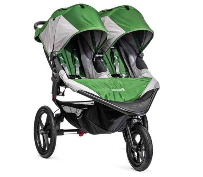 Baby Jogger Swivel Summit X3 Double Green-Gray