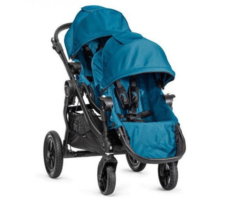 2017 Baby Jogger City Select With Second Seat In Teal With Black Frame