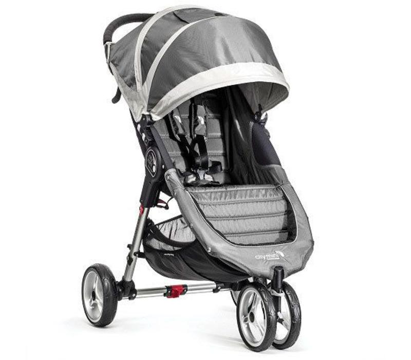 2018 Baby Jogger City Mini 3 Wheel Single In Steel-Gray
