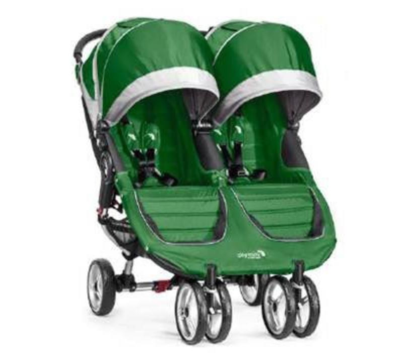 2017 Baby Jogger City Mini Double In Evergreen-Gray