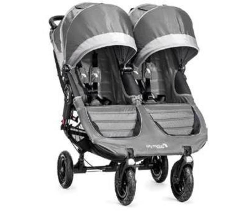 2017 Baby Jogger City Mini GT Double In Steel-Gray