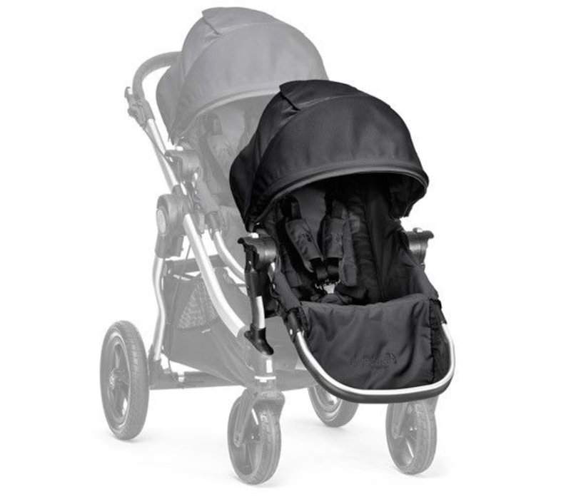2017 Baby Jogger City Select Second Seat Kit In Onyx- Silver Frame