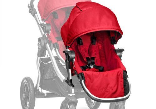 Baby Jogger 2017 Baby Jogger City Select Second Seat Kit In Ruby- Silver Frame