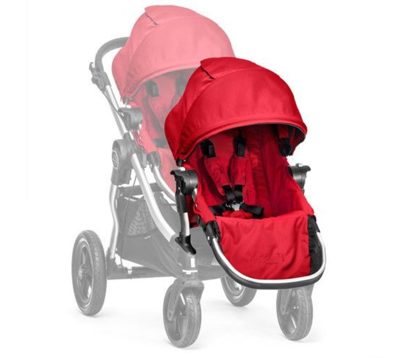 2017 Baby Jogger City Select Second Seat Kit In Ruby- Silver Frame