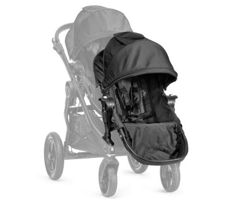 2017 Baby Jogger City Select Second Seat Kit In Black- Black Frame