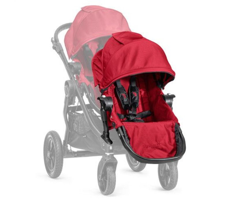 2017 Baby Jogger City Select Second Seat Kit In Red- Black Frame