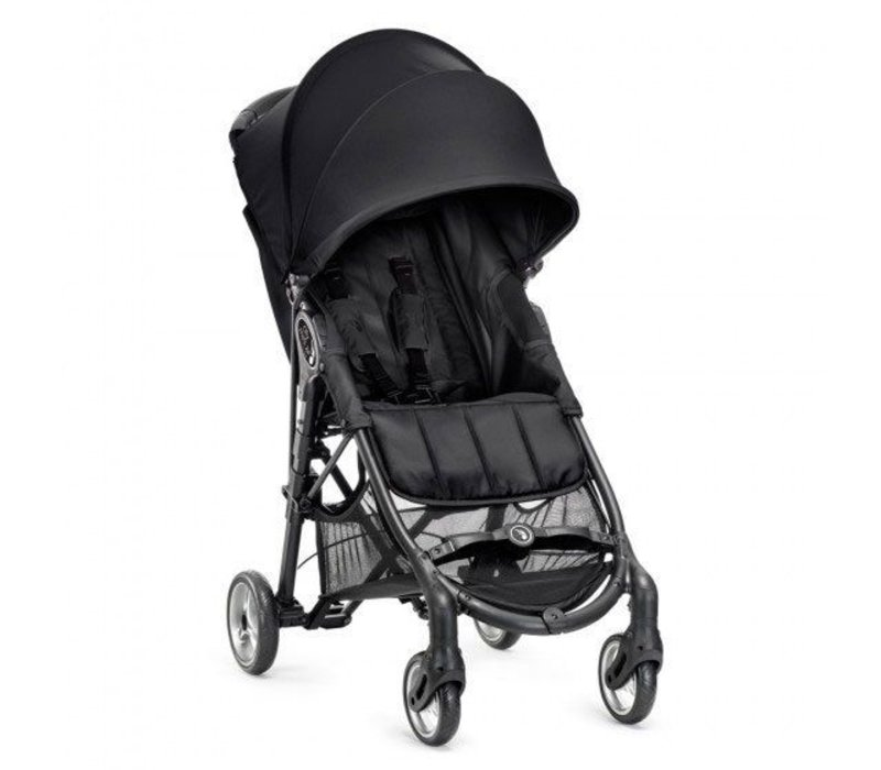 2017 Baby Jogger City Mini Zip Wheel Single In Black - Gray With Cup Holder