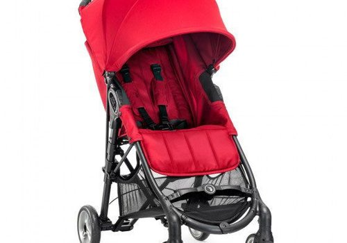 Baby Jogger 2017 Baby Jogger City Mini Zip Wheel Single In Red - Gray With Cup Holder