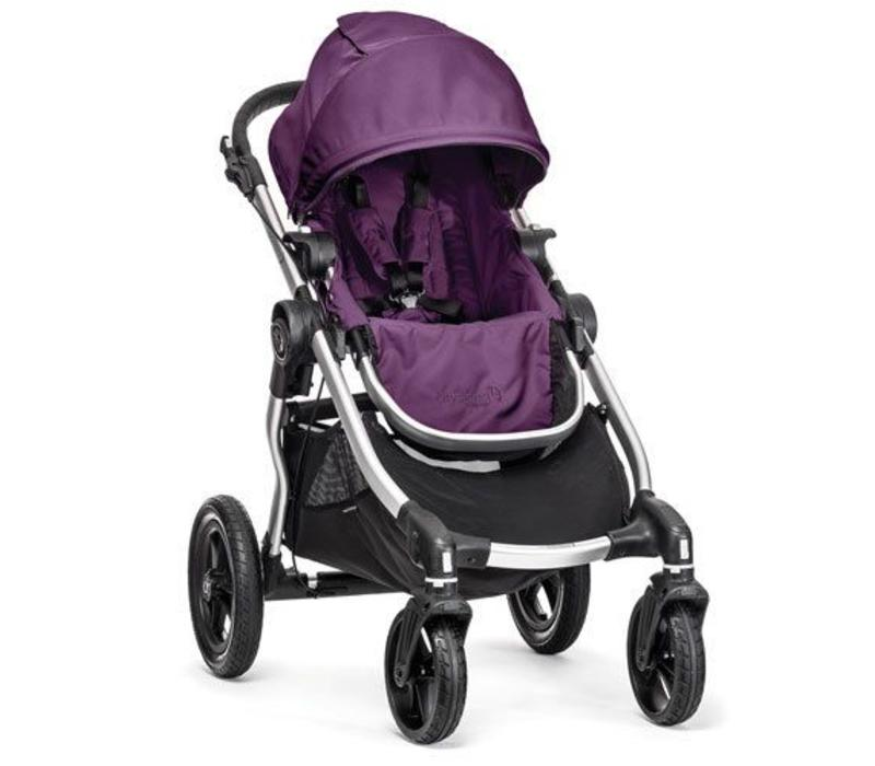 2017 Baby Jogger City Select Single In Amethyst With Silver Frame