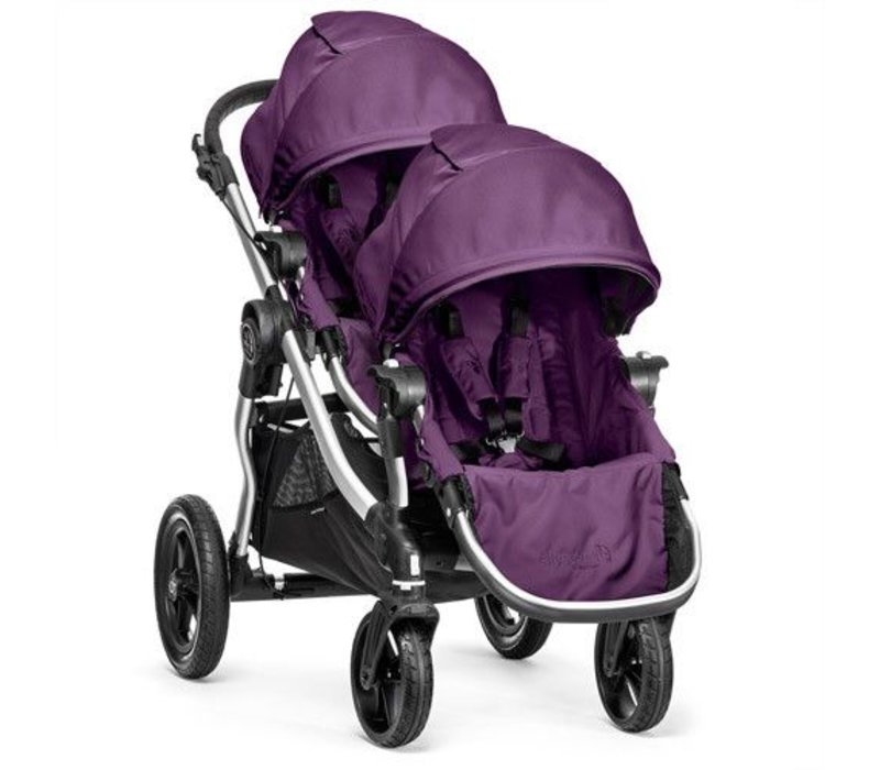 2017 Baby Jogger City Select With Second Seat In Amethyst With Silver Frame