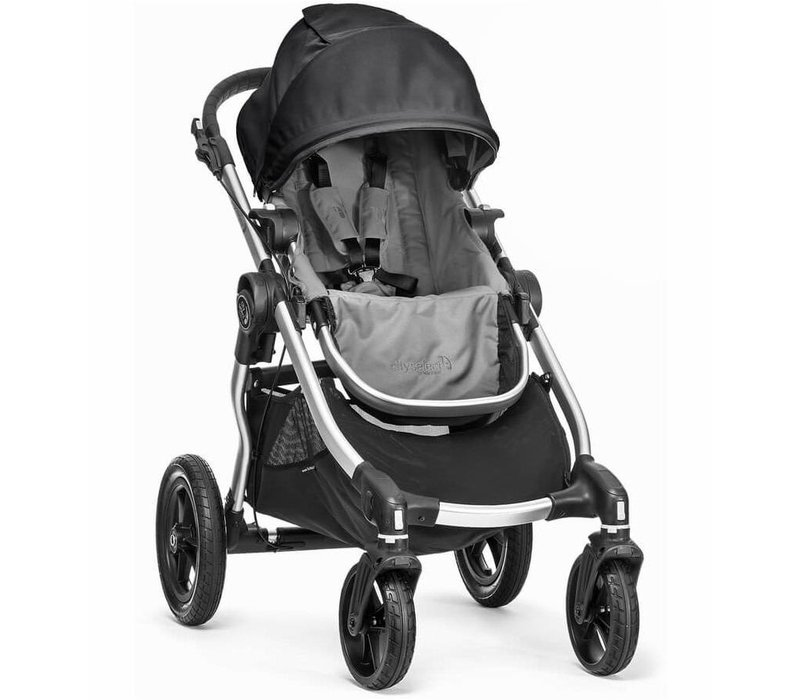 2017 Baby Jogger City Select Single In Gray With Silver Frame