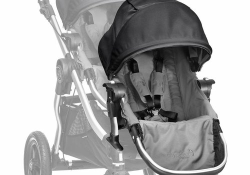 Baby Jogger 2017 Baby Jogger City Select Second Seat Kit In Gray-Black Frame