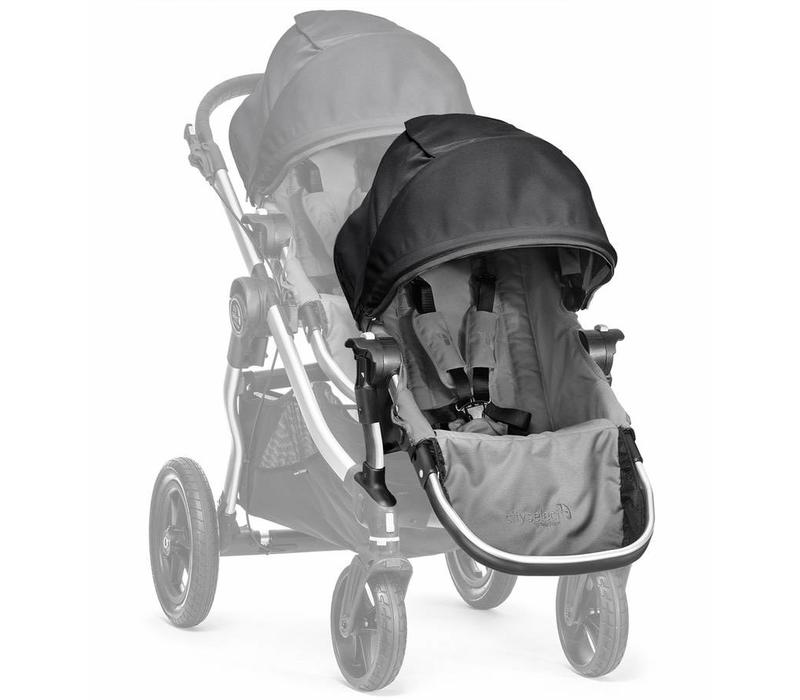2017 Baby Jogger City Select Second Seat Kit In Gray-Black Frame