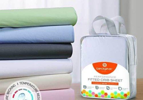 Bed Gear BedGear Dri-Tec Performance Crib Sheet In Grey
