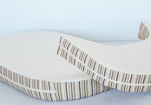 Essentia Essentia Memory Foam Oval Mattress With Extension In Beige (Crib And Junior)