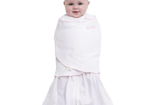 Halo HALO Sleepsack Swaddle 100% Cotton Pink Pin Dot In Newborn