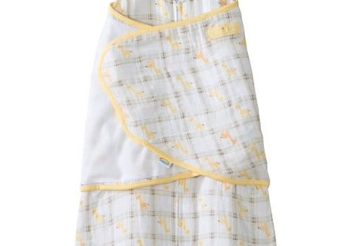 Halo HALO Sleepsack Swaddle Cotton Muslin Yellow Plaid In Newborn
