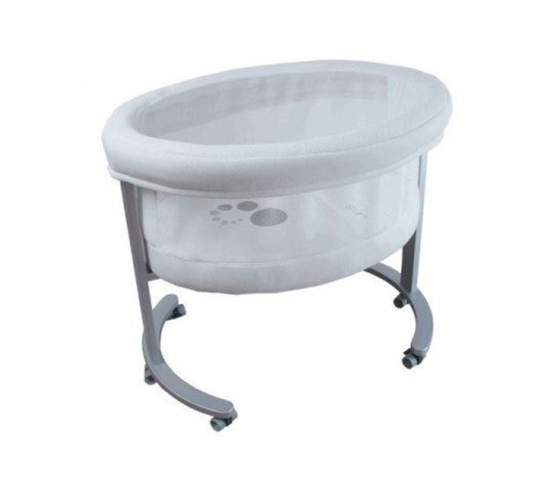 Micuna Smart Fresh Bassinet In Metal-White