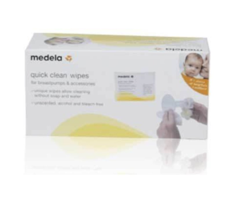 Medela Quick Clean Breast Pump And Accessory Wipes - (Singles)