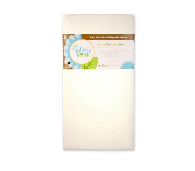Lullaby Earth Super Lightweight Crib Mattress 2 Stage