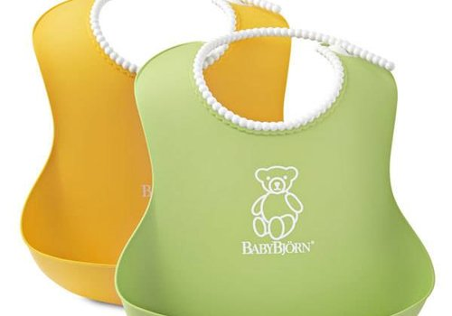 Baby Bjorn BABYBJORN Soft Bib Green and Yellow 2 Pk