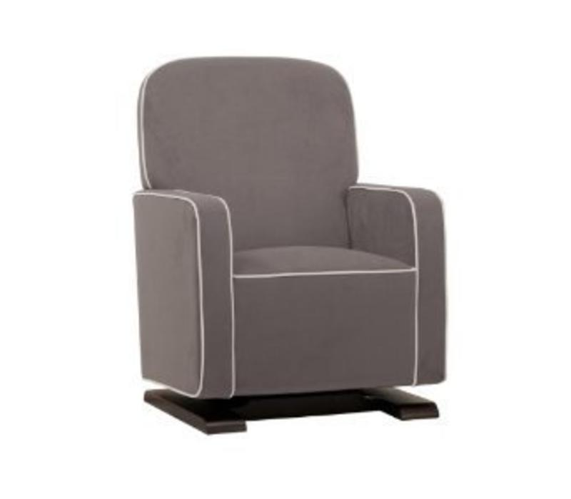 Baby Letto Kyoto Glider In Slate With Ecru Piping