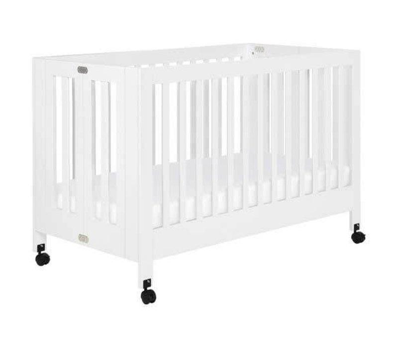 Baby Letto Maki Full Folding Crib In White
