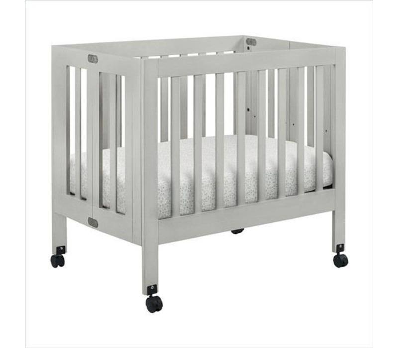 Baby Letto Origami Mini Crib In Grey (Pad Included)