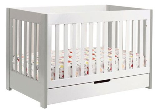 Baby Letto Baby Letto Mercer 3 In 1 Convertible Crib With Toddler Rail In White With Grey