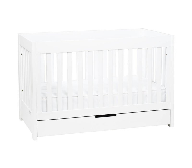 Baby Letto Mercer 3 In 1 Convertible Crib With Toddler Rail In White