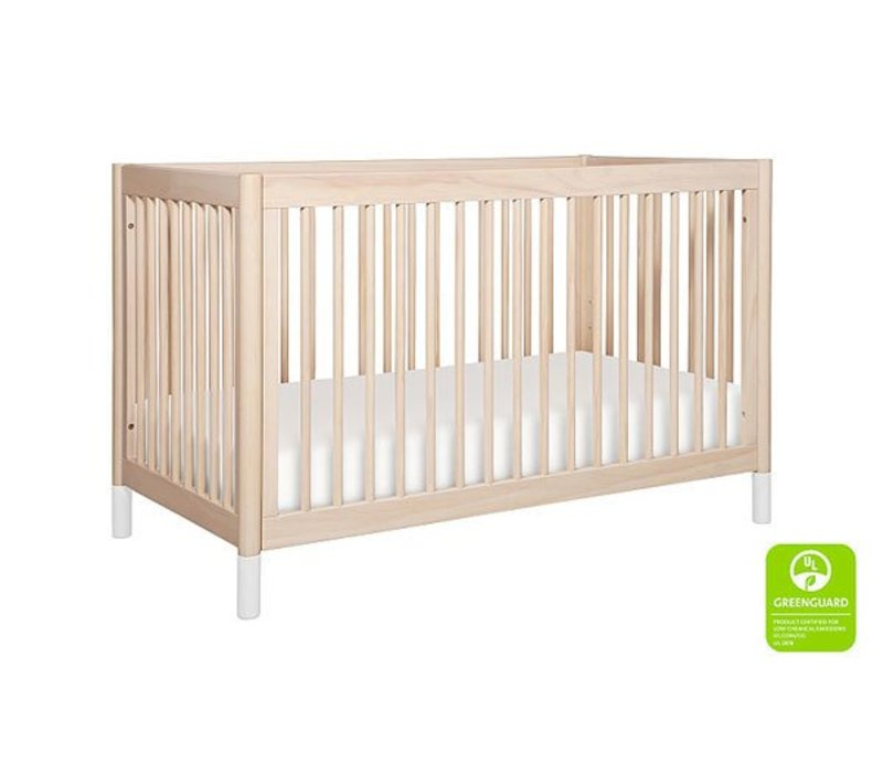 Baby Letto Gelato 4-in-1 Convertible Crib with Toddler Bed Kit In Washed Natural