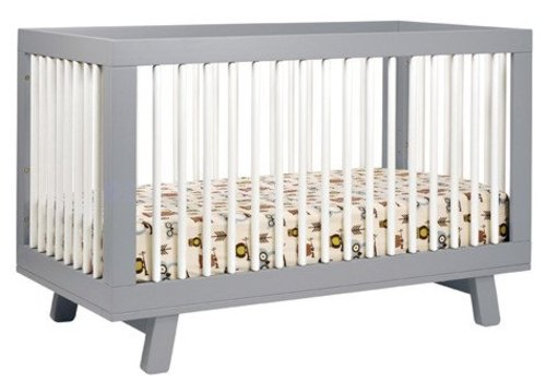 Baby Letto Baby Letto Hudson 3 In 1 Convertible Crib With Toddler Rail In White With Grey