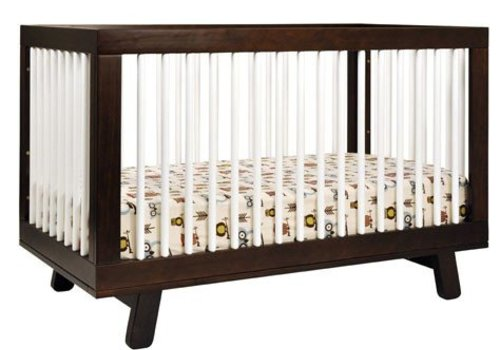 Baby Letto Baby Letto Hudson 3 In 1 Convertible Crib With Toddler Rail In White-Espresso