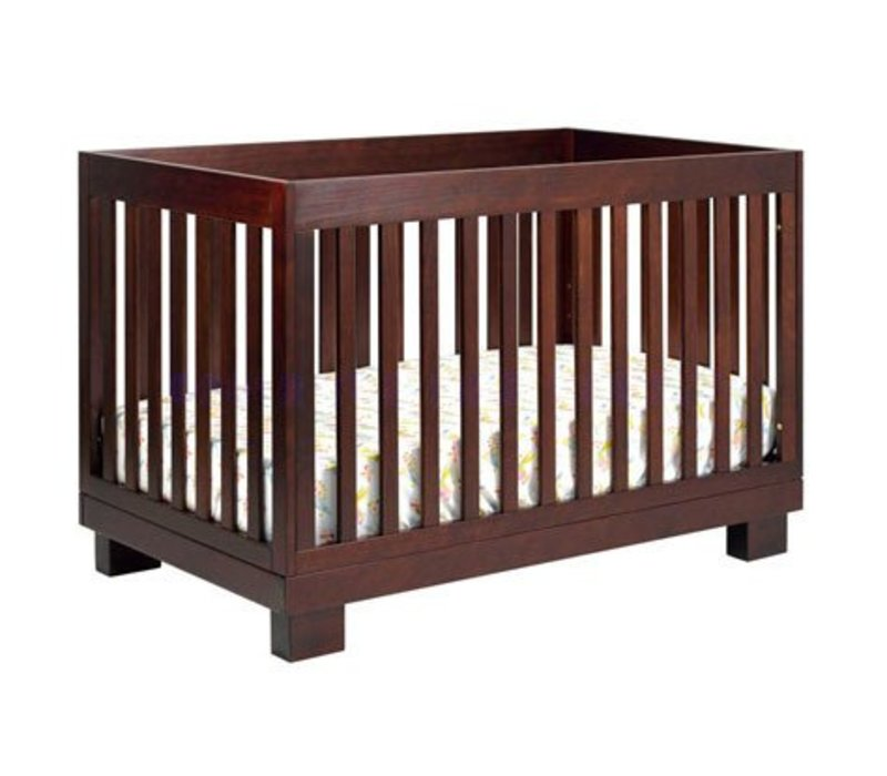 Baby Letto Modo 3 In 1 Convertible Crib With Toddler Rail In Espresso