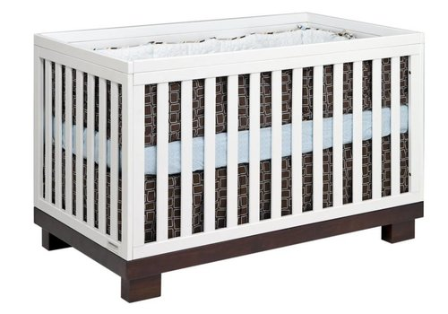 Baby Letto Baby Letto Modo 3 In 1 Convertible Crib With Toddler Rail In Espresso-White