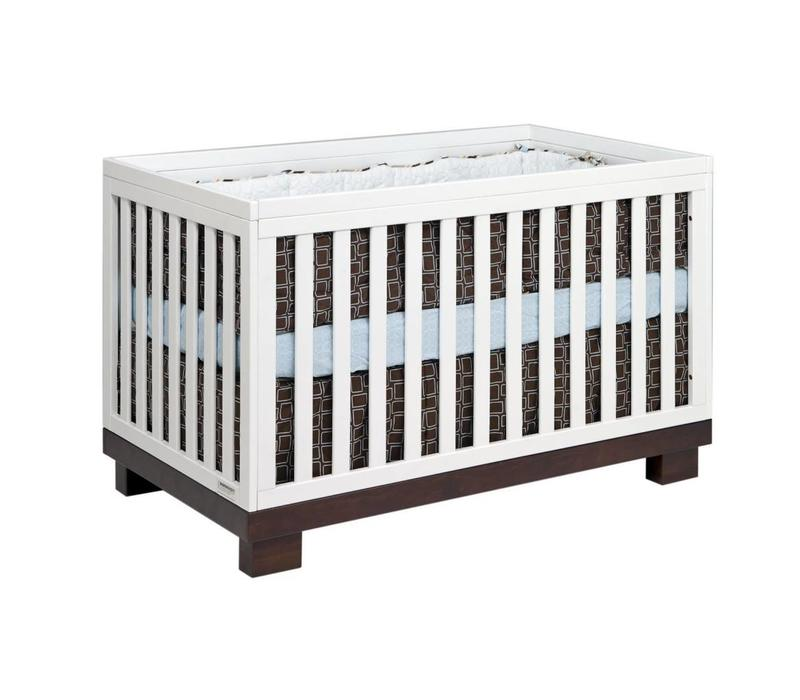 Baby Letto Modo 3 In 1 Convertible Crib With Toddler Rail In Espresso-White