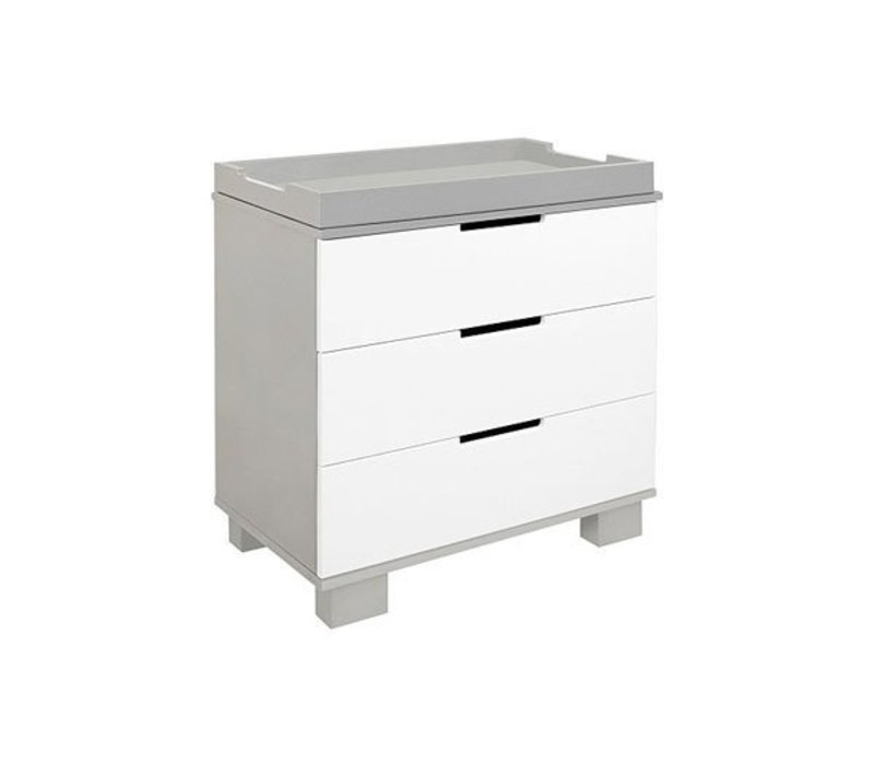 Baby Letto Modo 3 Drawer Changer In Gray With White (No Pad Included)