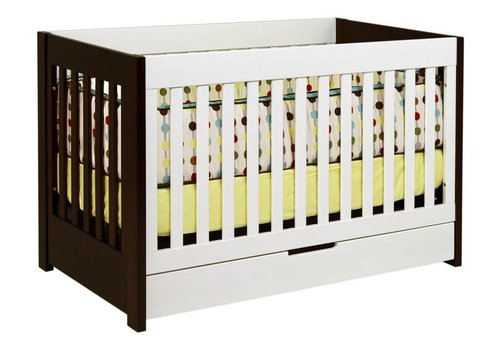 Baby Letto Baby Letto Mercer 3 In 1 Convertible Crib With Toddler Rail In White-Espresso