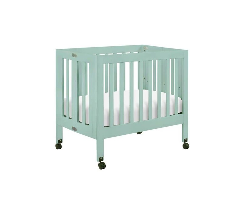 Baby Letto Origami Mini Crib In Lagoon (Pad Included)