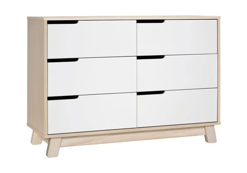 Baby Letto Baby Letto Hudson Double Dresser In Washed Natural-White