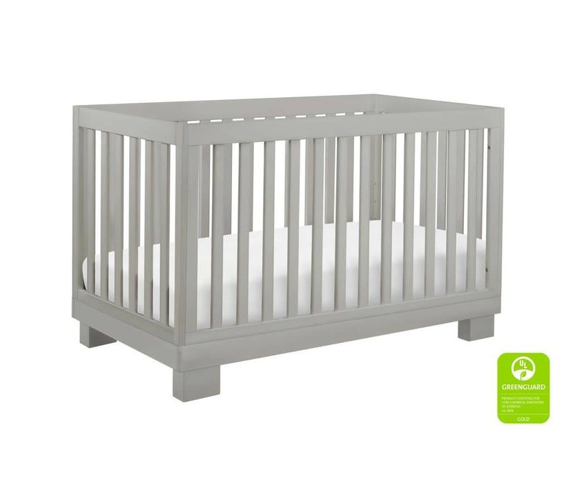 Baby Letto Modo 3 In 1 Convertible Crib With Toddler Rail In Gray