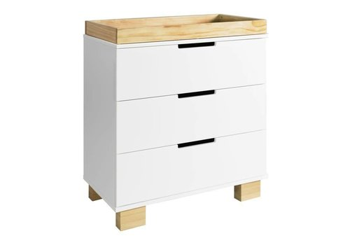 Baby Letto Baby Letto Modo 3 Drawer Changer  In White/Natural
