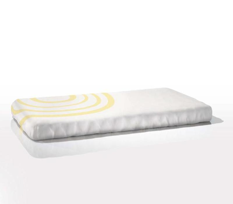 Nook Sleep Fitted Crib Sheet Ripple In Daffodil
