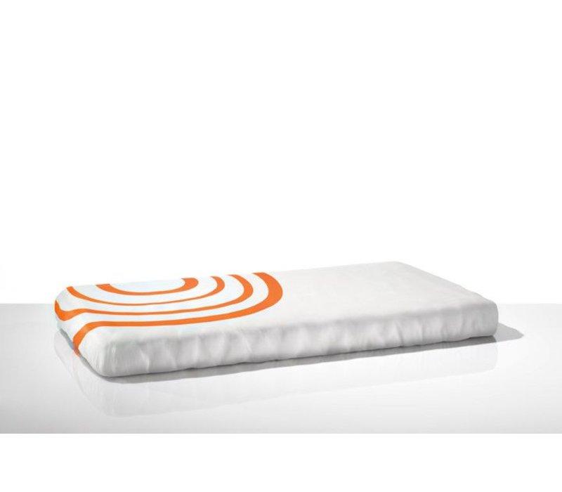 Nook Sleep Fitted Crib Sheet Ripple In Poppy