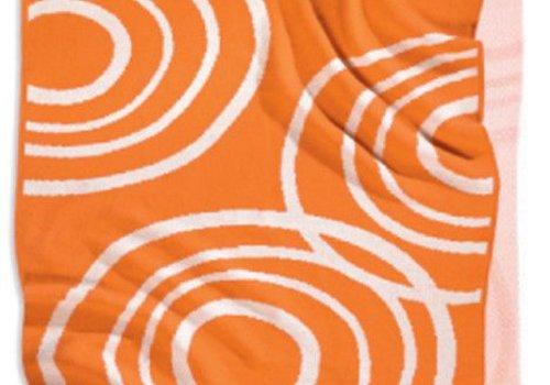 Nook Sleep Nook Sleep Knitted Blanket With Ripple in Poppy