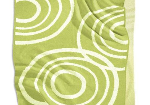 Nook Sleep Nook Sleep Knitted Blanket With Ripple In Lawn