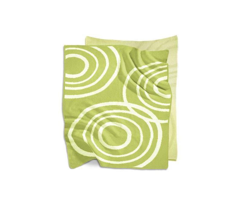 Nook Sleep Knitted Blanket With Ripple In Lawn