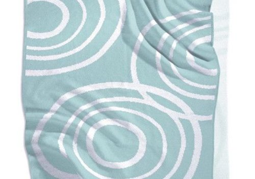 Nook Sleep Nook Sleep Knitted Blanket With Ripple in Glass